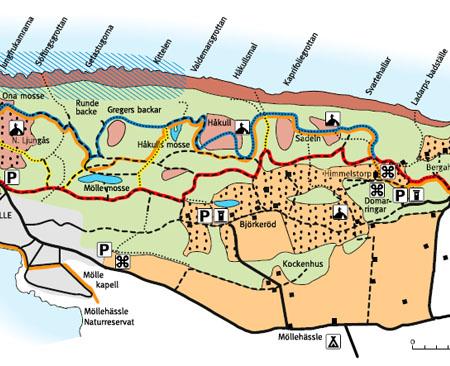 kullaberg karta Karta över mellersta Kullaberg kullaberg karta